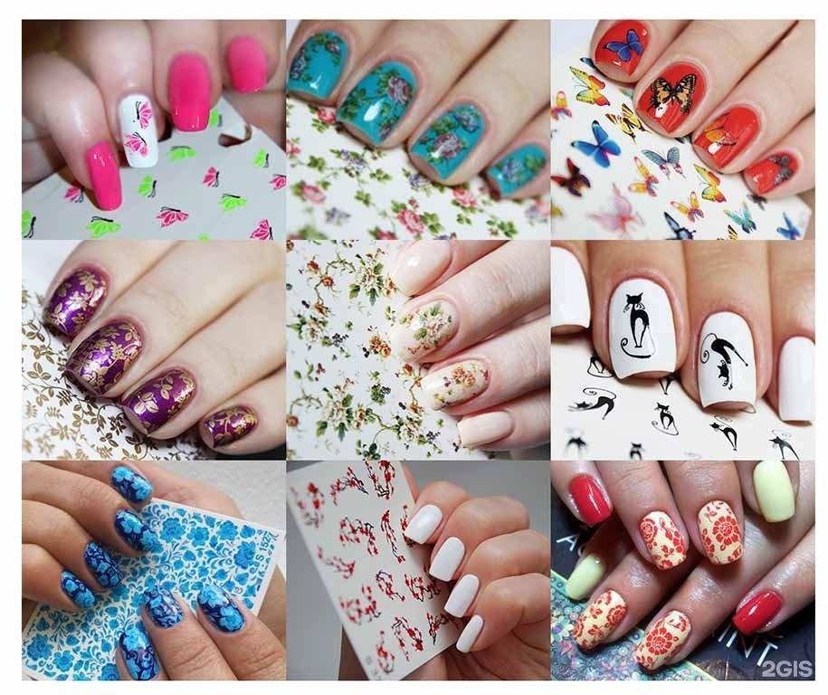 Дизайн ногтей фото наклейками