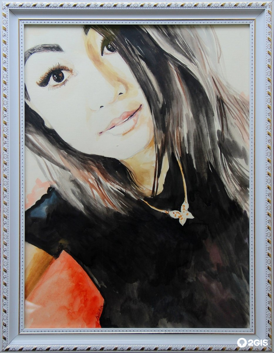 Портреты девушек акварелью фото