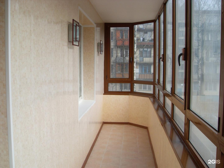 Отделка балконов под ключ в спб.