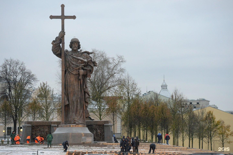 образования несимметричные, памятник князю владимиру в москве где фото северной